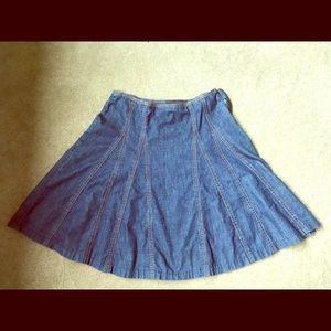 Vintage GAP denim flare skirt